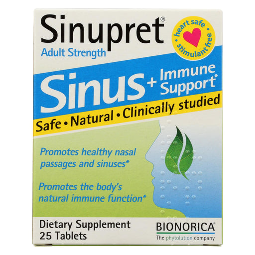 Sinupret Plus For Adults - 25 Tablets