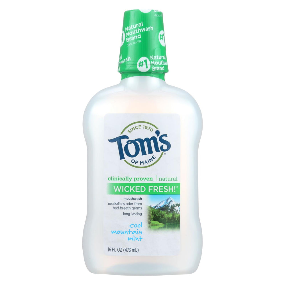 Tom's Of Maine Cool Mountain Mint Mouthwash - 16 Oz