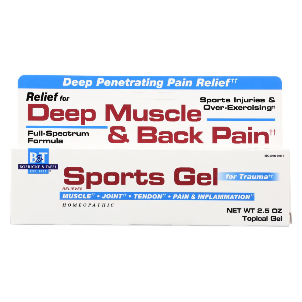 Boericke And Tafel Sports Gel - 2.5 Oz