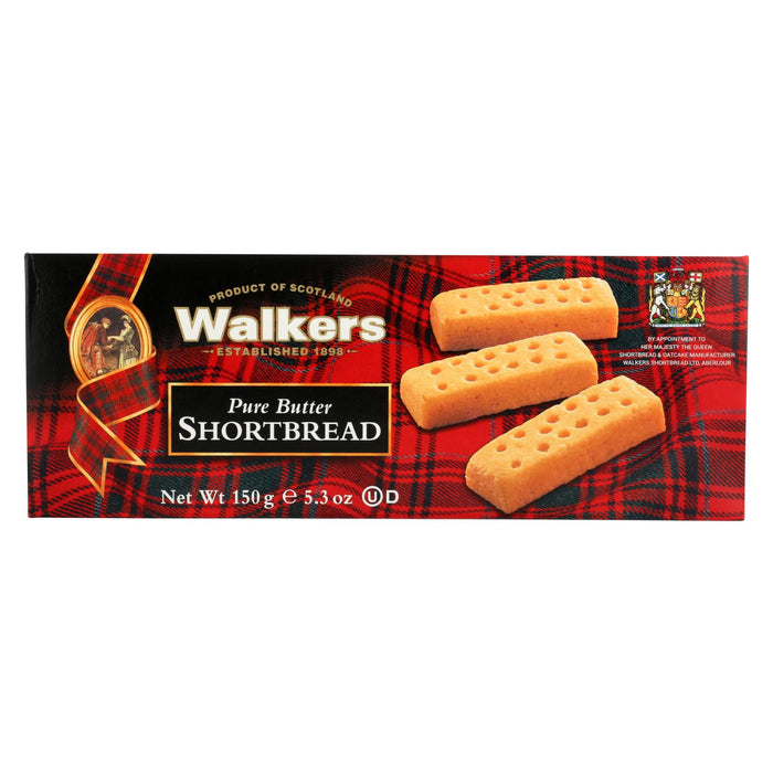 Walkers Shortbread - Pure Butter, Fingers - Case Of 12 - 5.3 Oz.