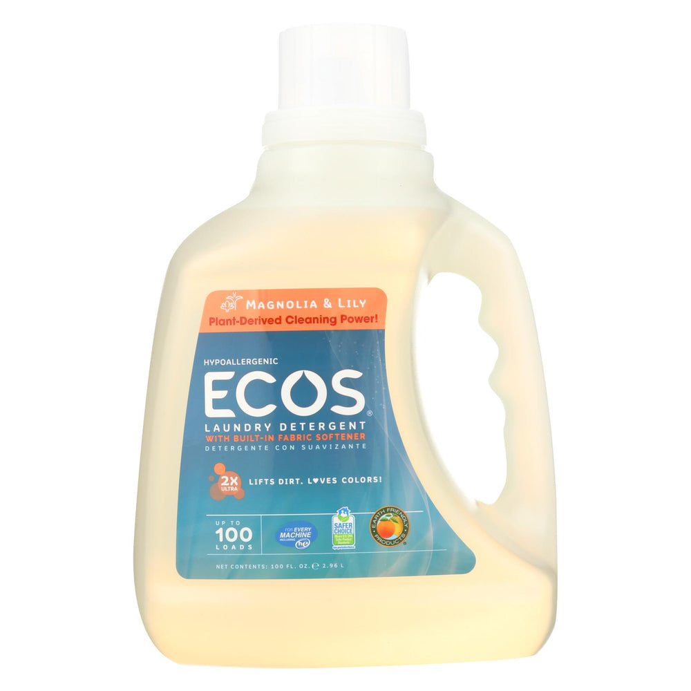 Earth Friendly Eco's 2x Ultra Liquid Laundry Detergent - Magnolia And Lily - Case Of 4 - 100 Fl Oz
