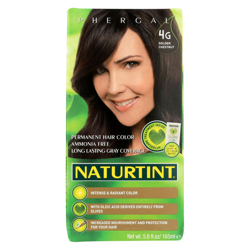 Naturtint Hair Color - Permanent - 4g - Golden Chestnut - 5.28 Oz