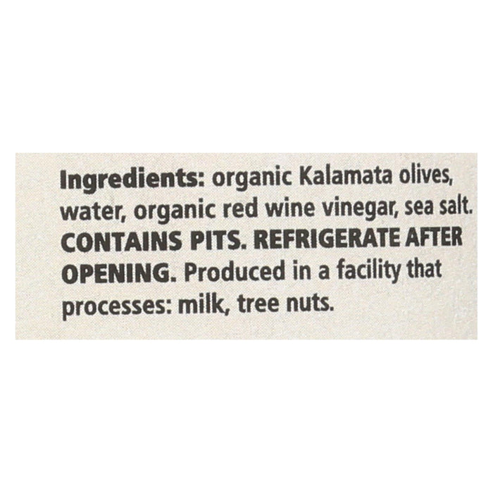 Divina Organic Kalamata Olives - Case Of 6 - 6.35 Oz.