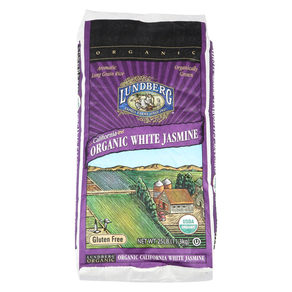 Lundberg Family Farms Organic Jasmine White Rice - Case Of 25 - 1 Lb.