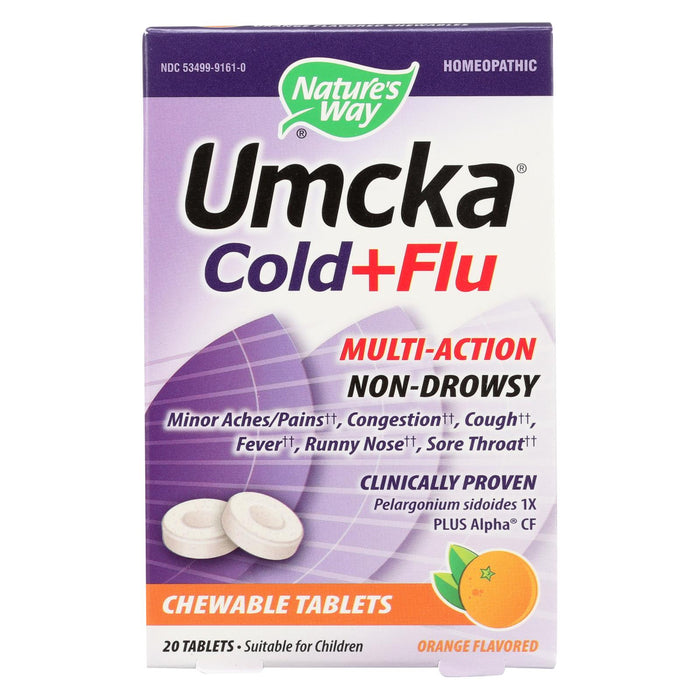 Nature's Way Umcka Cold & Flu Orange Chewable - 20 Count
