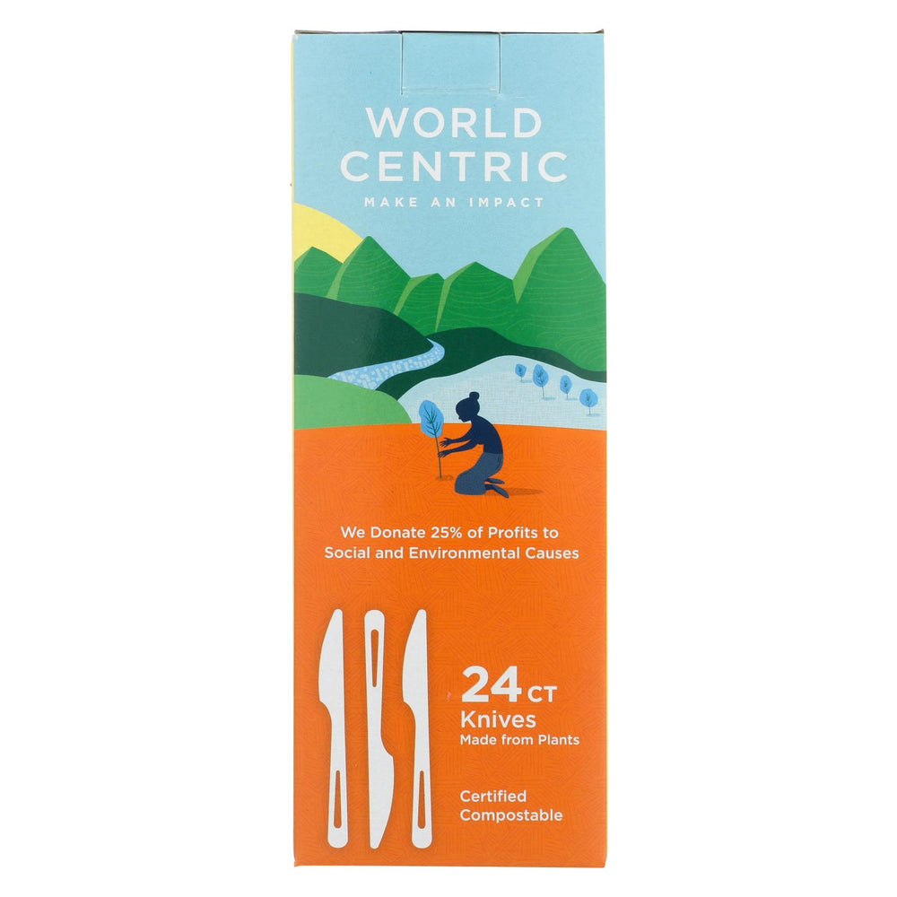 World Centric Individual Knife - Case Of 12 - 24 Count
