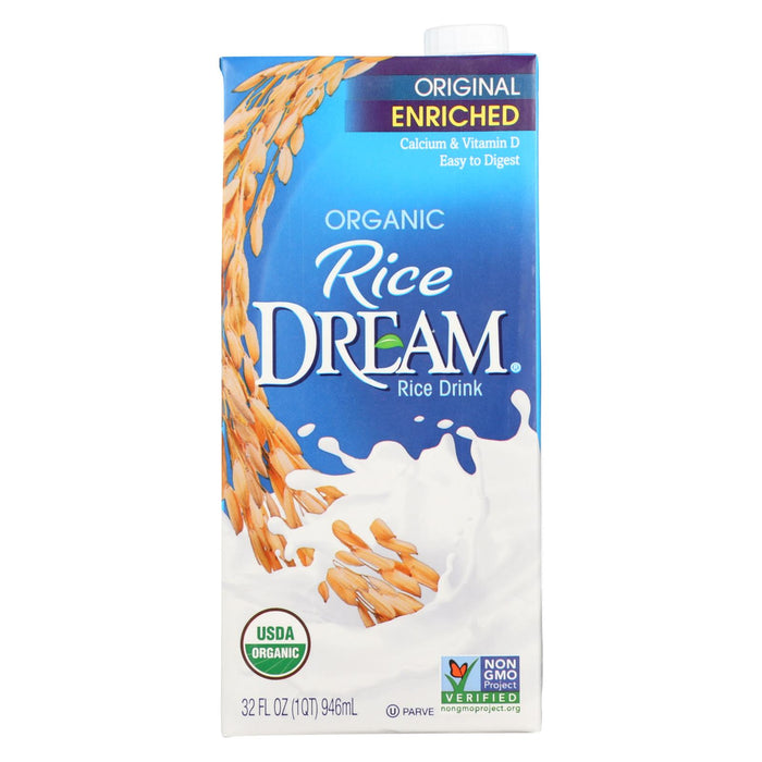 Rice Dream Original Rice Drink - Enriched Vanilla - Case Of 12 - 32 Fl Oz.