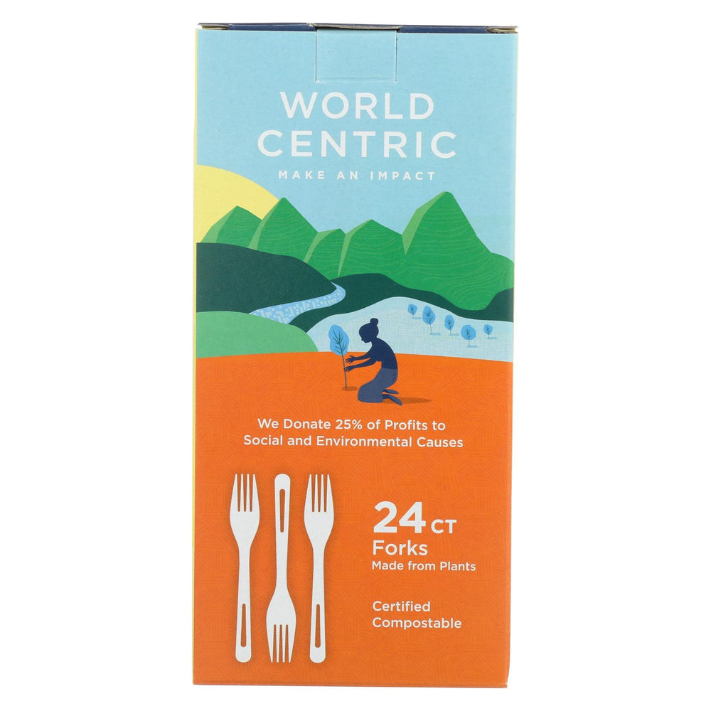 World Centric Corn Starch Fork - Case Of 12 - 24 Count
