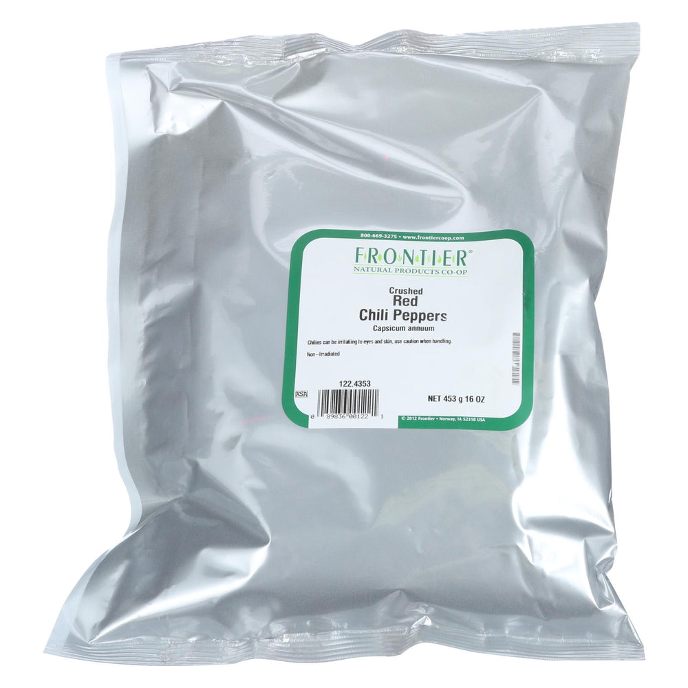 Frontier Herb Red Chili Pepper Flakes - Bulk - 1 Lb