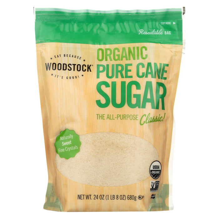 Woodstock Sugar - Organic - Pure Cane - Granulated - 24 Oz - Case Of 12