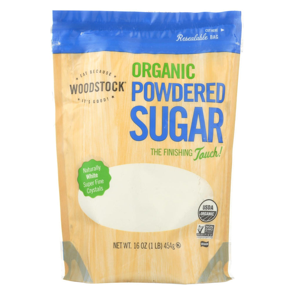 Woodstock Sugar - Organic - Powdered - 16 Oz - Case Of 12