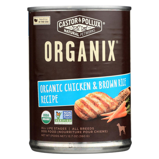 Castor And Pollux Organic Dog Food - Chicken And Brown Rice - Case Of 12 - 12.7 Oz.