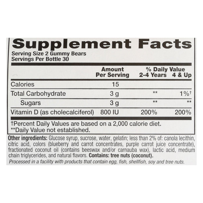 Nutrition Now Rhino Vitamin D Bears - 60 Gummy Bears