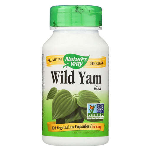 Nature's Way Wild Yam Root - 425 Mg - 100 Capsules