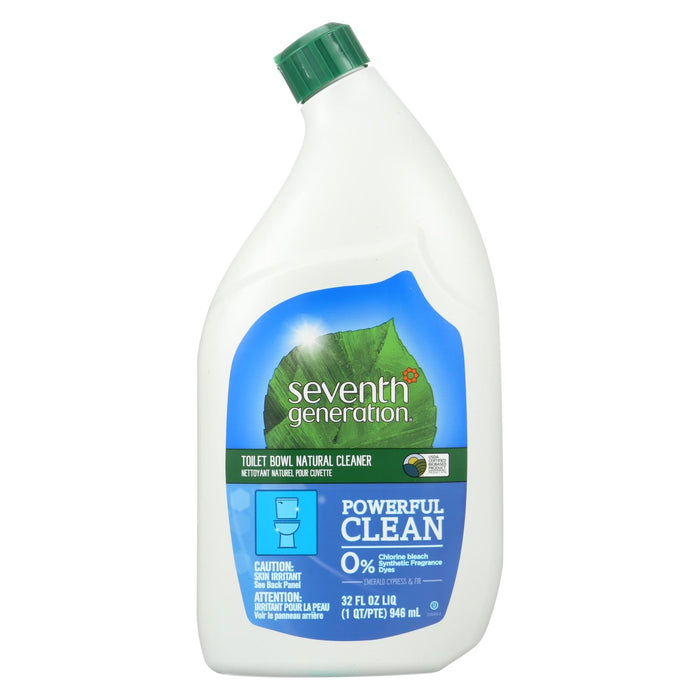 Seventh Generation Toilet Bowl Cleaner - Emerald Cypress And Fir - Case Of 8 - 32 Fl Oz.