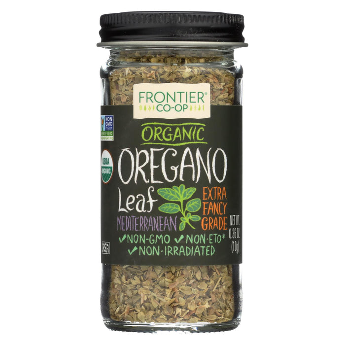 Frontier Herb Oregano Leaf - Organic - Flakes - Cut And Sifted - Fancy Grade - .36 Oz