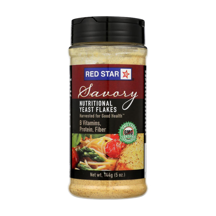 Red Star Nutritional Yeast Vegetarian Support Formula - Yeast Flakes - Mini - Case Of 6 - 5 Oz.