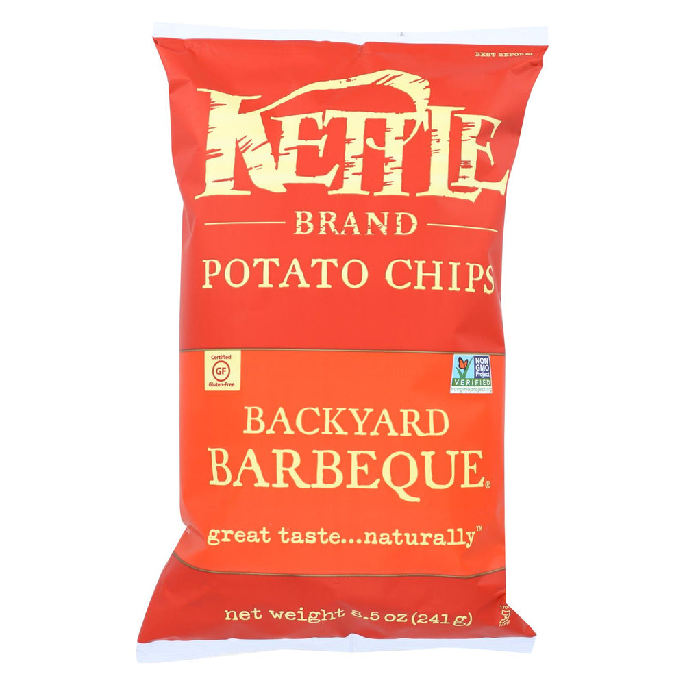 Kettle Brand Potato Chips - Backyard Barbeque - Case Of 12 - 8.5 Oz.