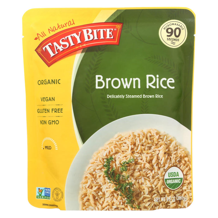 Tasty Bite Rice - Organic - Brown - 8.8 Oz - Case Of 6