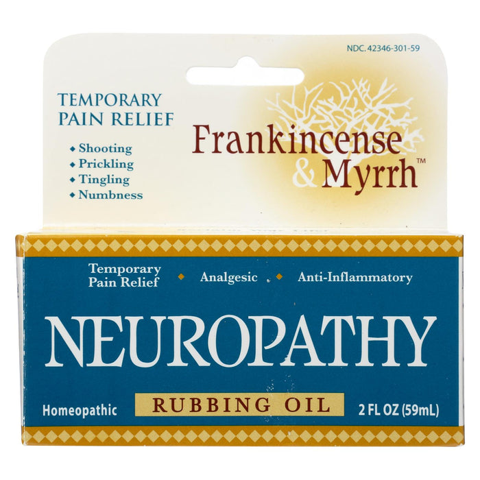 Frankincense And Myrrh Neuropathy Rubbing Oil - 2 Fl Oz