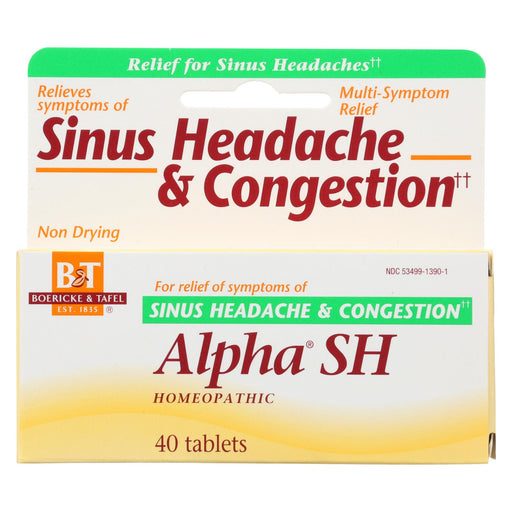 Boericke And Tafel Alpha Sh Sinus Headache - 40 Tablets