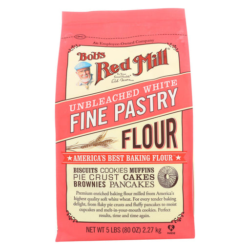 Bob's Red Mill Unbleached White Fine Pastry Flour - 5 Lb - Case Of 4