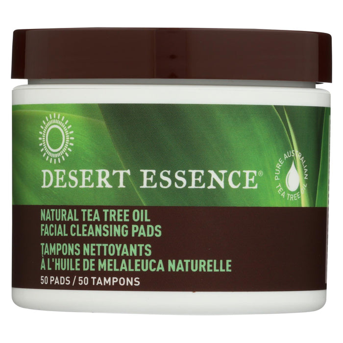 Desert Essence Natural Tea Tree Oil Facial Cleansing Pads - Original - 50 Pads