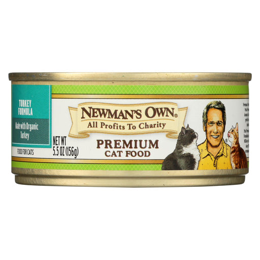 Newman's Own Organics Adult Turkey Formula Canned Cat Food - Organic - Case Of 24 - 5.5 Oz.