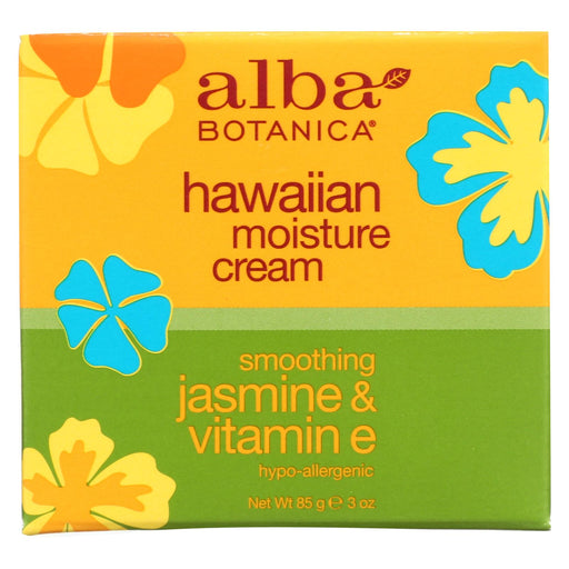 Alba Botanica Hawaiian Moisture Cream Jasmine And Vitamin E - 3 Oz