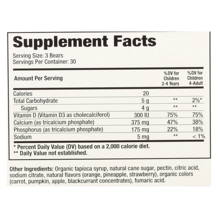 Hero Nutritional Products Yummi Bears Vegetarian Calcium With Vitamin D - Fruit Flavors - 90 Ct