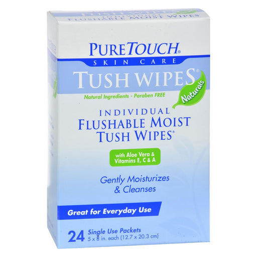 Puretouch Tush Wipes Flushable - 24 Wipes