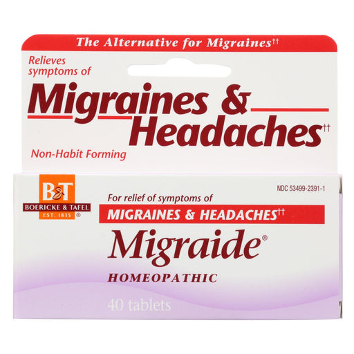 Boericke And Tafel Migraide - 40 Tablets