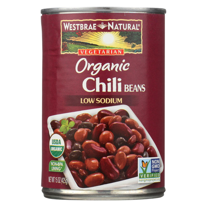 Westbrae Foods Organic Chili Beans, - Case Of 12 - 15 Oz.