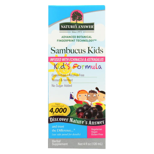 Nature's Answer Sambucus Nigra Black Elder Berry Extract Kids Formula - 4 Fl Oz