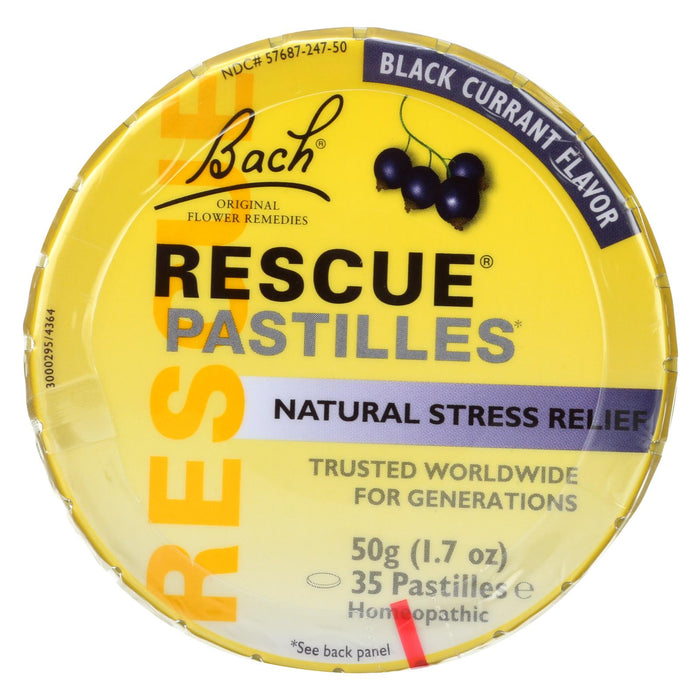 Bach Flower Remedies Rescue Pastilles Black Currant - 1.7 Oz - Case Of 12