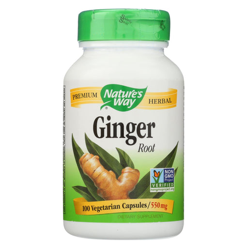 Nature's Way Ginger Root - 100 Capsules
