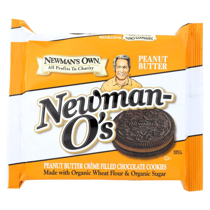 Newman's Own Organics Creme Filled Chocolate Cookies - Peanut Butter - Case Of 6 - 13 Oz.