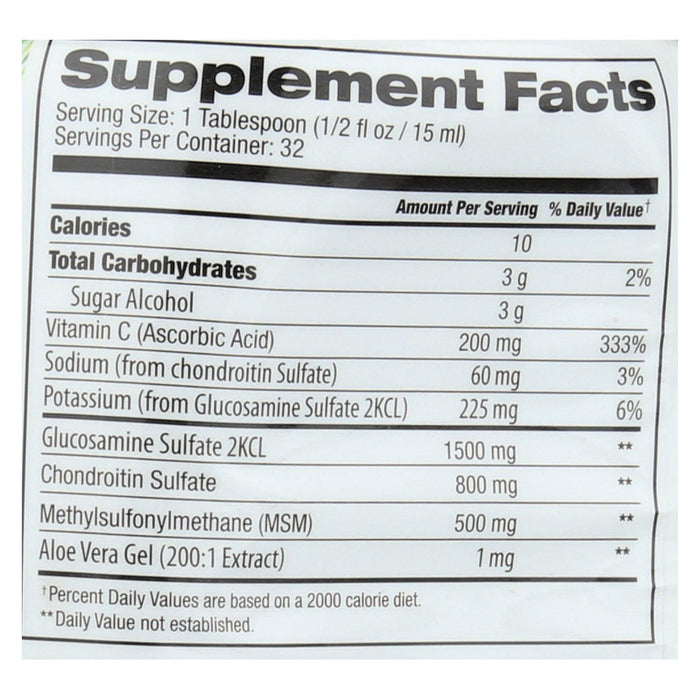 Tropical Oasis Glucosamine Chondroitin And Msm Supplement - Liquid - 1 Each - 16 Oz.