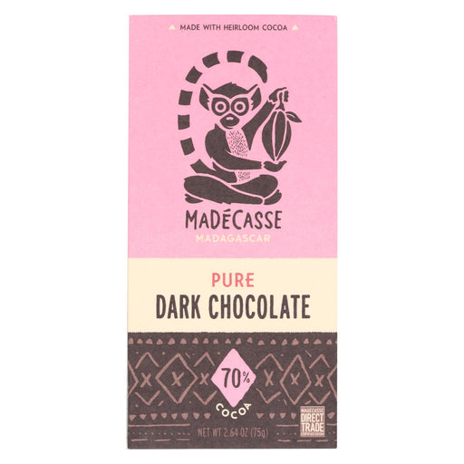 Madecasse Chocolate Bars - 70 Percent Cocoa Chocolate - 2.64 Oz - 12 Count