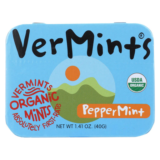Vermints Breath Mints - All Natural - Peppermint - 1.41 Oz - Case Of 6