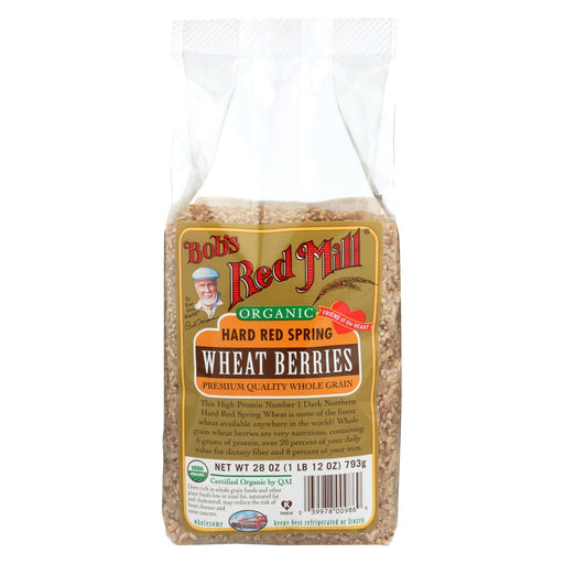 Bob's Red Mill Wheat Berry - Organic Hard Red Spring - Case Of 4 - 28 Oz