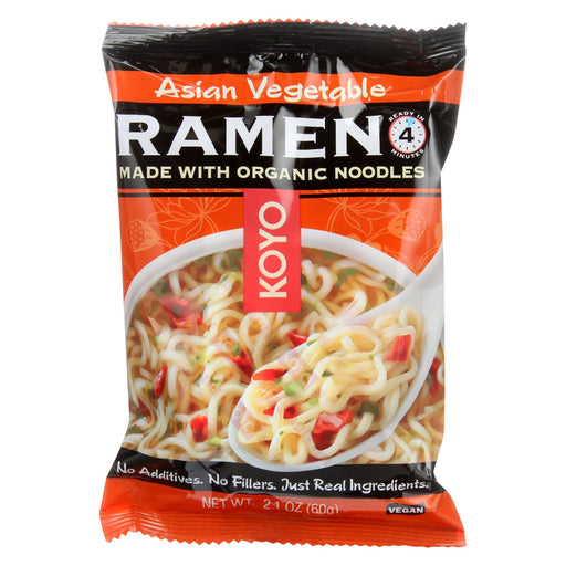 Koyo Ramen - Asian Vegetable - Case Of 12 - 2.1 Oz.