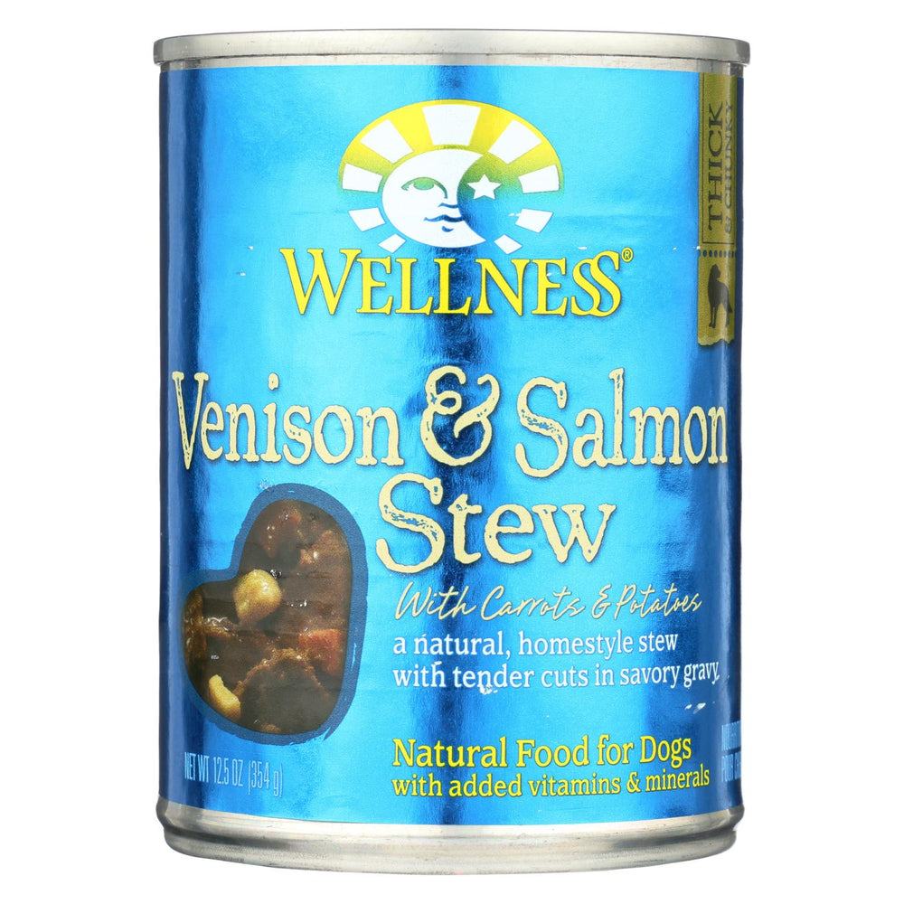 Wellness Pet Products Dog Food - Venison And Salmon With Potatoes And Carrots - Case Of 12 - 12.5 Oz.