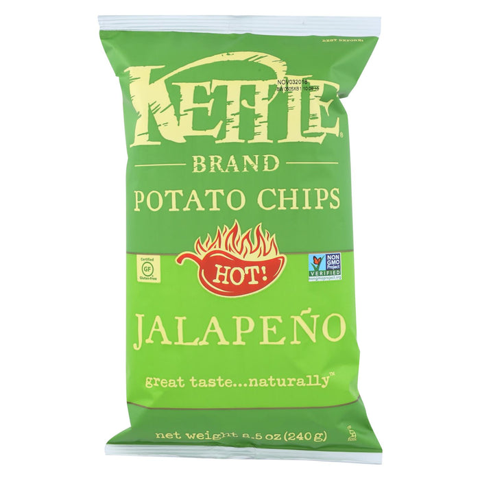Kettle Brand Potato Chips - Jalapeno - Case Of 12 - 8.5 Oz.