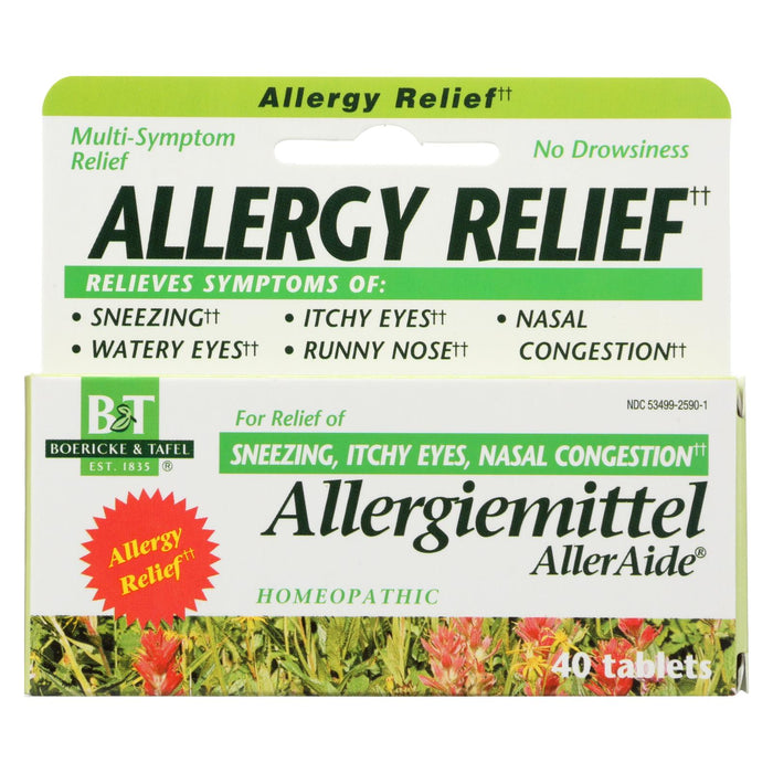 Boericke And Tafel Allergiemittel Alleraide - 40 Tablets