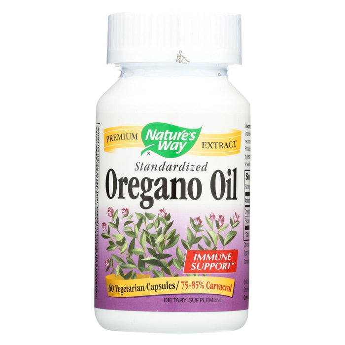 Nature's Way Oregano Oil Standardized - 60 Vegetarian Capsules