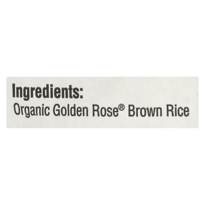 Lundberg Family Farms Organic Golden Rose Medium Grain Brown Rice - Case Of 25 - 1 Lb.