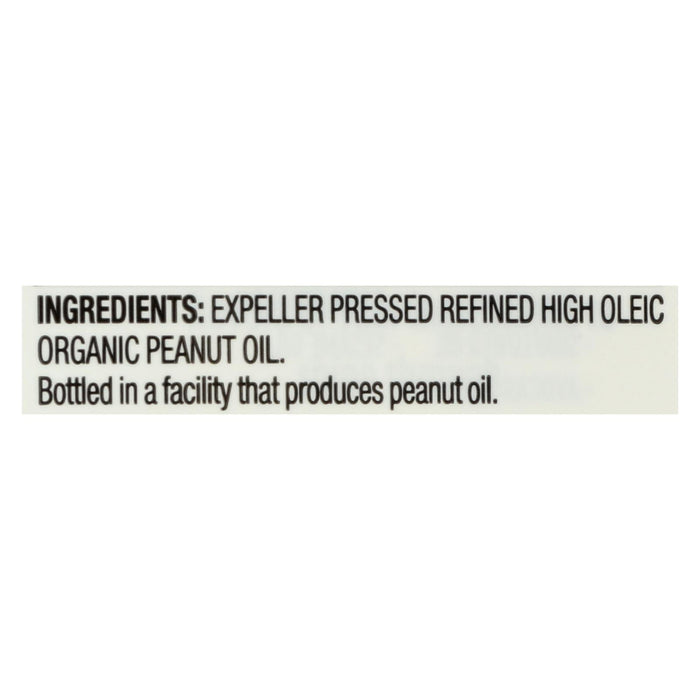Spectrum Naturals High Heat Refined Organic Peanut Oil - Case Of 12 - 16 Fl Oz.