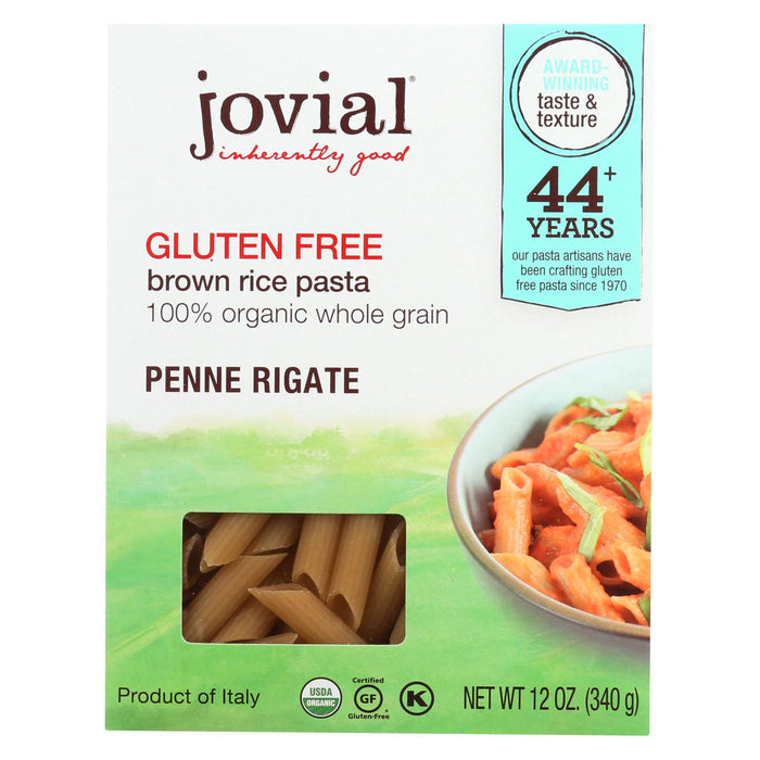 Jovial Pasta - Organic - Brown Rice - Penne Rigate - 12 Oz - Case Of 12