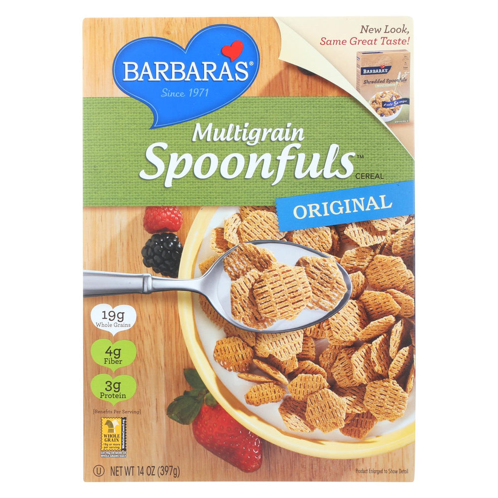 Barbara's Bakery Spoonfuls Cereal - Multigrain - Case Of 12 - 14 Oz.